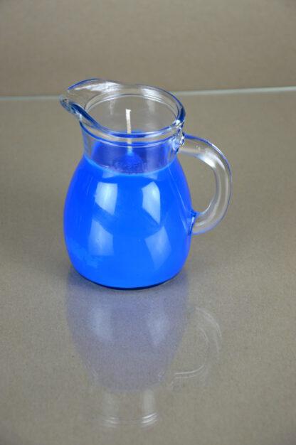 Tropfkerze aus Sojawachs blau