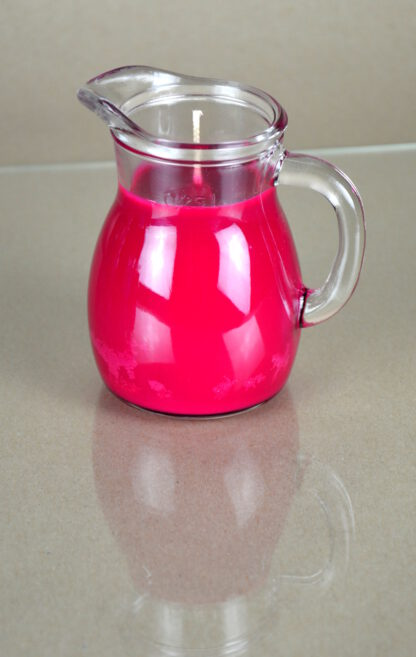 Tropfkerze aus Sojawachs pink