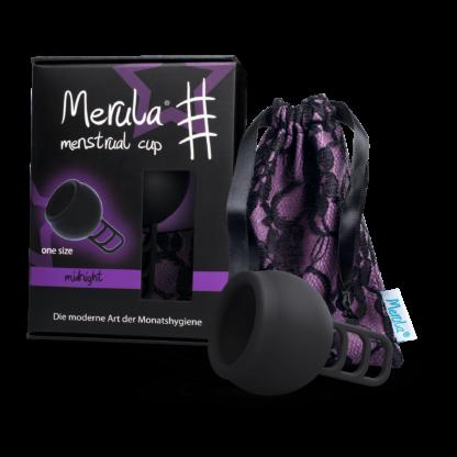 Merula Mooncup menstruationstasse Schwarz
