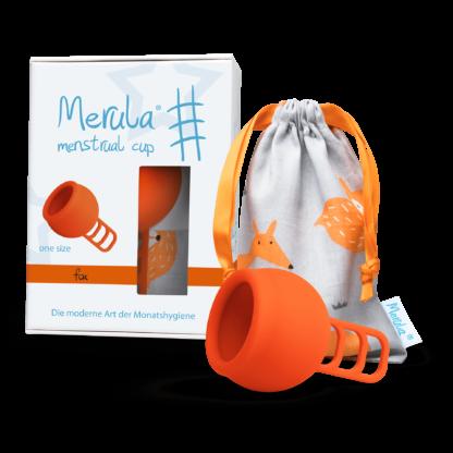 Merula Mooncup Menstruationstasse Orange